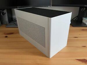 LOUQE GHOST S1 Mini ITX PC Case MKII - Limestone - LARGE Top Hat - Custom Feet