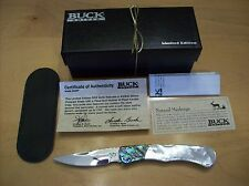 RARE LIMITED EDITION BUCK KNIFE 532 PAUA SHELL / MOTHER OF PEARL ~ #115/250 GEM