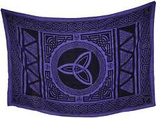 "Purple Triquetra Tapestry Blanket 72 x 108"" Wiccan Pagan Altar Supply WTCM"