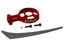 Lynx Blade 130 S Red Aluminum Tail Case W/ Carbon Fiber Vertical Fin LX2558-7