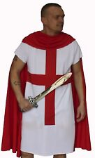 The Dragons Den Templar England Knight Tunic Cloak English Fancy Dress Costume