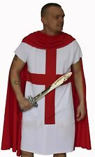 England Knight Tunic & Cloak English Fancy Dress Costume