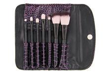 FAUX CROC 7-PIECE BRUSH SET BH Cosmetics makeup black purple crocodile case new