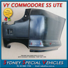 DRIVERS SIDE REAR BUMPER BAR POD FOR VY VZ COMMODORE SS UTE + EXHAUST OPENING