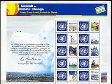 UNITED NATIONS 2009 SUMMIT ON CLIMATE CHANGE SHEET MINT NEVER HINGED