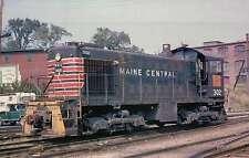 Maine Central ALCO S2 Switcher #302, Bangor, ME, 1972 -- Railroad Train Postcard
