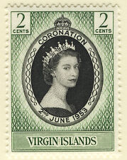 VIRGIN ISLANDS 1953 CORONATION MNH