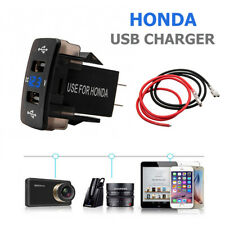 Impermeable USB dual del cargador del coche LED enchufe DC 12V/24V For Honda