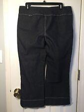 Jordache Low Rise Stretch Fit Capri Style Size 13 /14  Blue Jeans