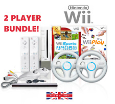 Wii Console 2 PLAYER >2 Remotes, 2 Steering Wheels, 14 GAMES Wii Sports & Play
