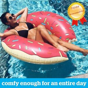 Summer Outdoor Activities Inflatable Donut Swimming Ring Pool Buoy Mattress Thic