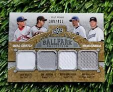 2009 UD Ballpark Collection STAT KING QUAD JERSEY Card /400 HALLADAY VERLANDER