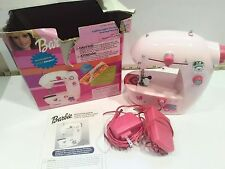 Barbie Electric Sewing machine Portable pink toy works 2003