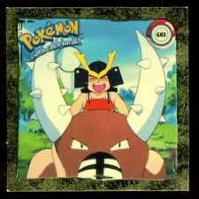POKEMON STICKER ENGLISH CARD 50X50 1998 GOLD N° G03 PINSIR