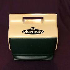 Vintage Igloo PlayMate MiniMate Cooler Dark Green and Tan Fishing Camping Cooler
