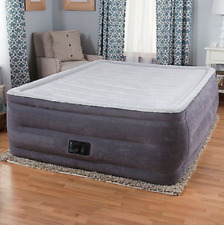 """22"""" Queen Raised Air Mattress With Built In Pump Inflatable Bed Airbed Camping"""