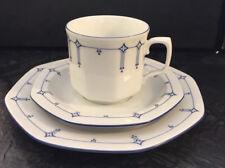 1 Gedeck Tasse Teller Seltmann Weiden Porzellan Mirabell Ninette blau weiß