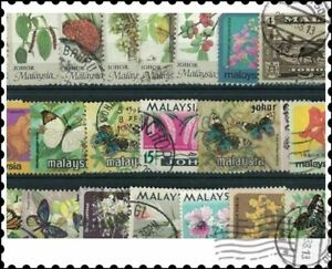 Malaysia Johore : 50 Different Stamps Mixture