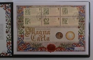 2015 The Magna Carta Silver & Gold Proof Double Coin First Day Cover