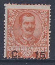 ITALIA 1905 Vittorio Emanuele III supplemento 15 C su 20 C Arancione sg73 Nuovo di zecca