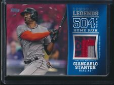 2018 Topps Series 2 Longball Legends Relics Patch Red (04/25) Giancarlo Stanton