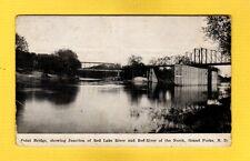 Grand Forks,ND North Dakota, Point Bridge,junction of Red Lake River & Red River