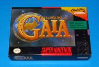 Illusion of Gaia SNES Super Nintendo 1994 *Complete*CIB w/Box Booklet MIB in Box