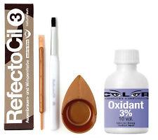 RefectoCil Set Augenbrauenfarbe Wimpernfarbe + Entwickler+ Pinsel + Färbeschale