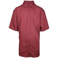 Carhartt Men's Maroon S/S Woven Shirt XL-3XLT (Retail $40)