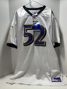Ray Lewis Reebok On Field Jersey #52 - Size 56 - NFL Football Baltimore Ravens