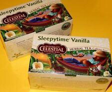 2 PACK New Celestial Seasonings Sleepytime Vanilla Herbal Tea Bags