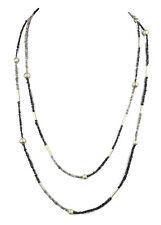 ROH-DIAMANT Lange Kette Endlos-Kette 140cm / DIAMOND Necklace V318