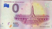 BILLET 0  EURO OSSUAIRE DE DOUAUMONT  FRANCE  2018  NUMERO 1000
