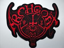 ARCHGOAT RED LOGO  EMBROIDERED BACK PATCH