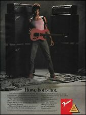 Greg Howe 1989 Fender HM Strat guitar Dual Showman Amps ad 8 x 11 advertisement