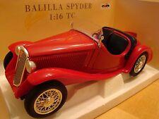 1/16 FIAT 508 III BALILLA SPIDER BERLINA 1933 GHIA LINGOTTO ITALIA 1/18 124