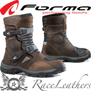 FORMA ADVENTURE LOW BROWN SHORT LEATHER MOTORCYCLE MOTORBIKE TOURING BOOTS