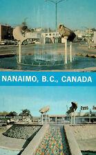 Nanaimo,British Columbia,Canada,Centennial Fountain,2 Scenes,c.1958
