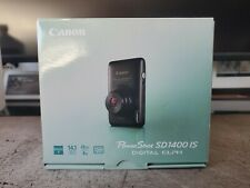 Brand New Black Canon PowerShot ELPH SD1400 IS 14.1MP 4XZoom Digital Camera $399
