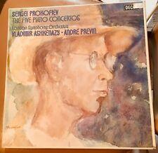 Prokofiev 5 Piano Concertos Ashkenazy Previn 3LP Box/ insert Decca Import EX/NM