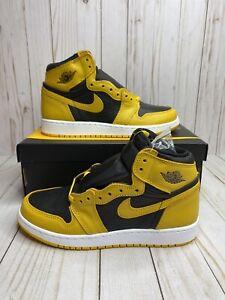 Nike Air Jordan 1 Retro High OG GS Pollen Sz 6.5Y Yellow White Black 575441 701