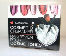 Heart Shaped Acrylic Makeup and Brush Organizer - NIB