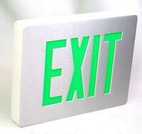 Sempra SEDGWNEI Double sided Exit sign White with Green letters 120/277VAC NEW