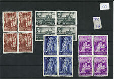 nr143 Belgian Postage Postal Stamps MNH 1948 773/776  x 4