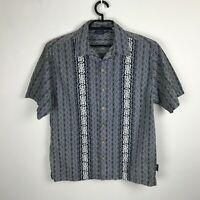 Sideout Camp Shirt Size M Blue Cotton Short Sleeve Button Down Mens