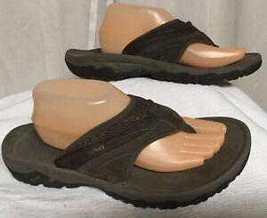 Teva Flip Flops Men's size 9 Sandals Gray Cushion Insole