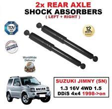 2X Amortiguadores Traseros para Suzuki Jimny (Sn) 1.3 16V 4WD 1.5 Ddis 4x4 1998-