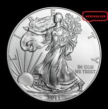 2012 AMERICAN SILVER EAGLE  1 OZ. 999 PURE FINE SILVER BULLION [NICE - UNC] COIN