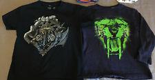 Boy's 5-6 S GYMBOREE CRAZY 8 MINECRAFT Long Sleeve T-Shirt Lot Black Blue Boy