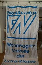 FROHLICH-WOLFF CAMPERS / TENTS GERMAN LANGUAGE OUTDOOR ADVERTISING BANNER